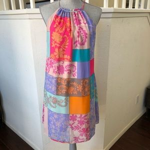 Taylor for a pea in the pod Patchwork Dress Sz M